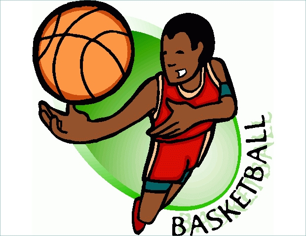 Jumping for Basketball Clipart