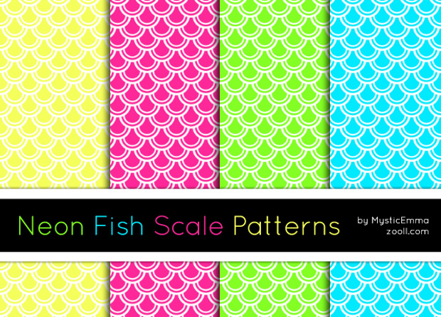neon patterns of fish scale