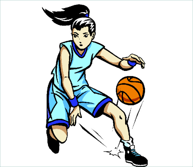 Dribbling Basketball Clipart