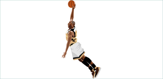Nice Slam Dunk Basketball Clipart