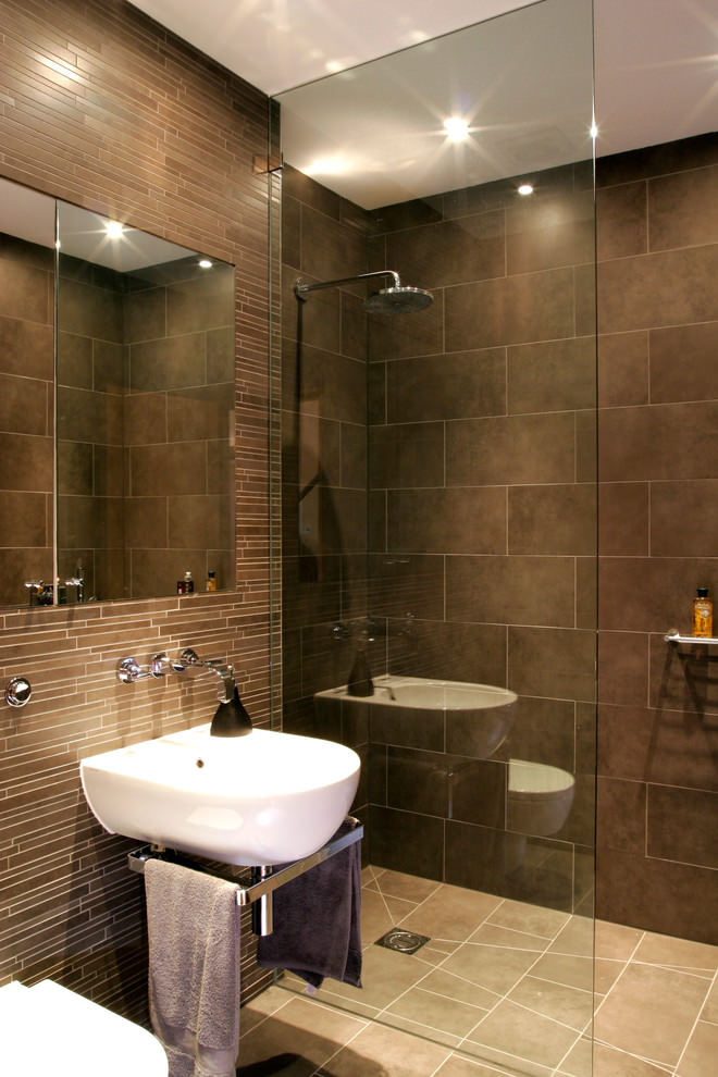 23 brown bathroom designs decorating ideas design for Room design with bathroom