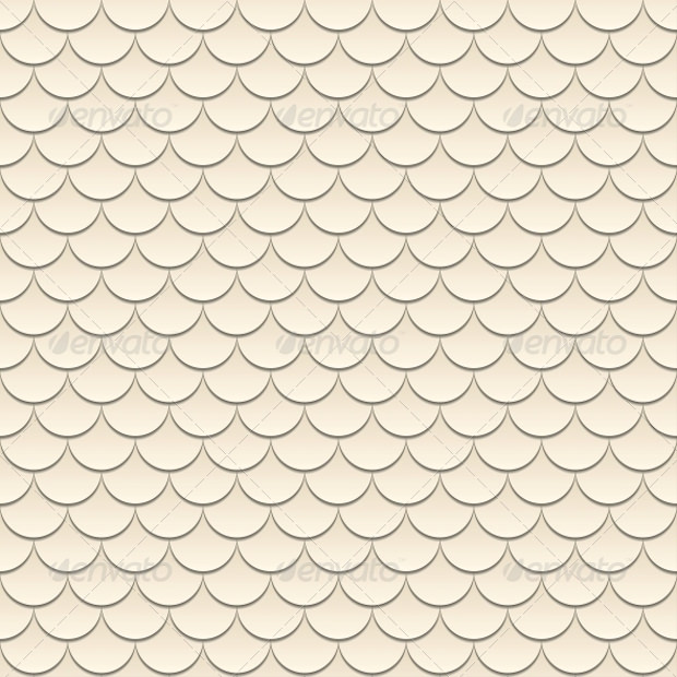 geometrical fish scale pattern