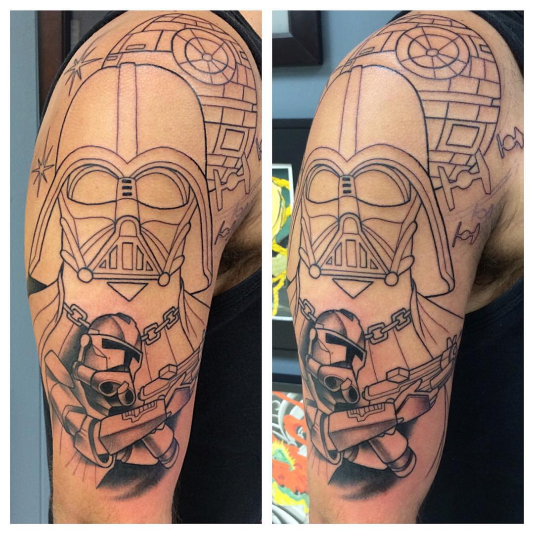 starwars sleeve tattoo design