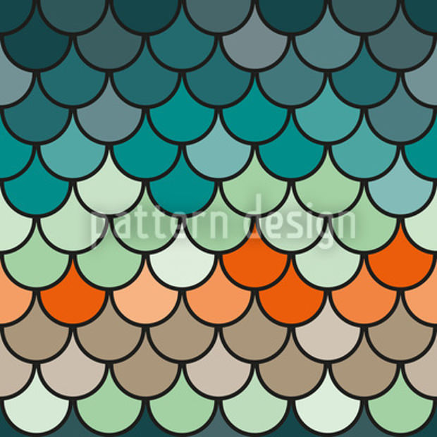 blue and orange shades pattern