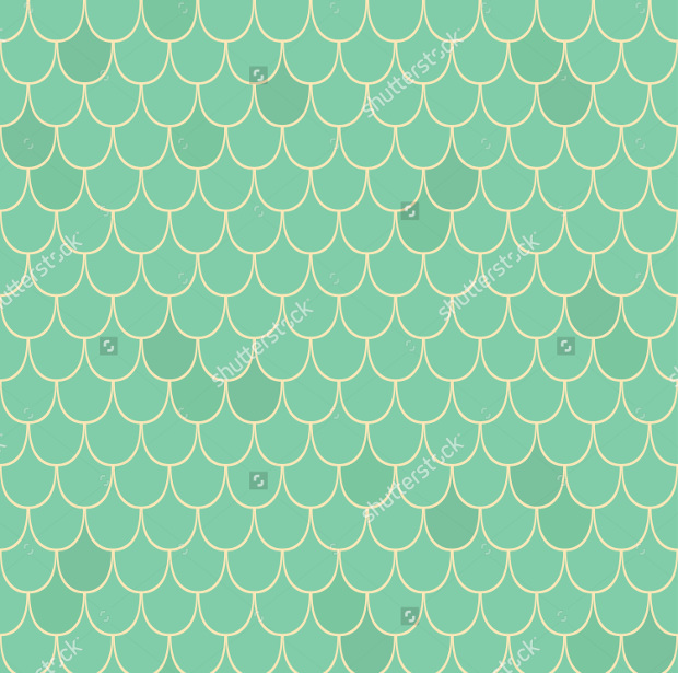 seamless vector scale pattern