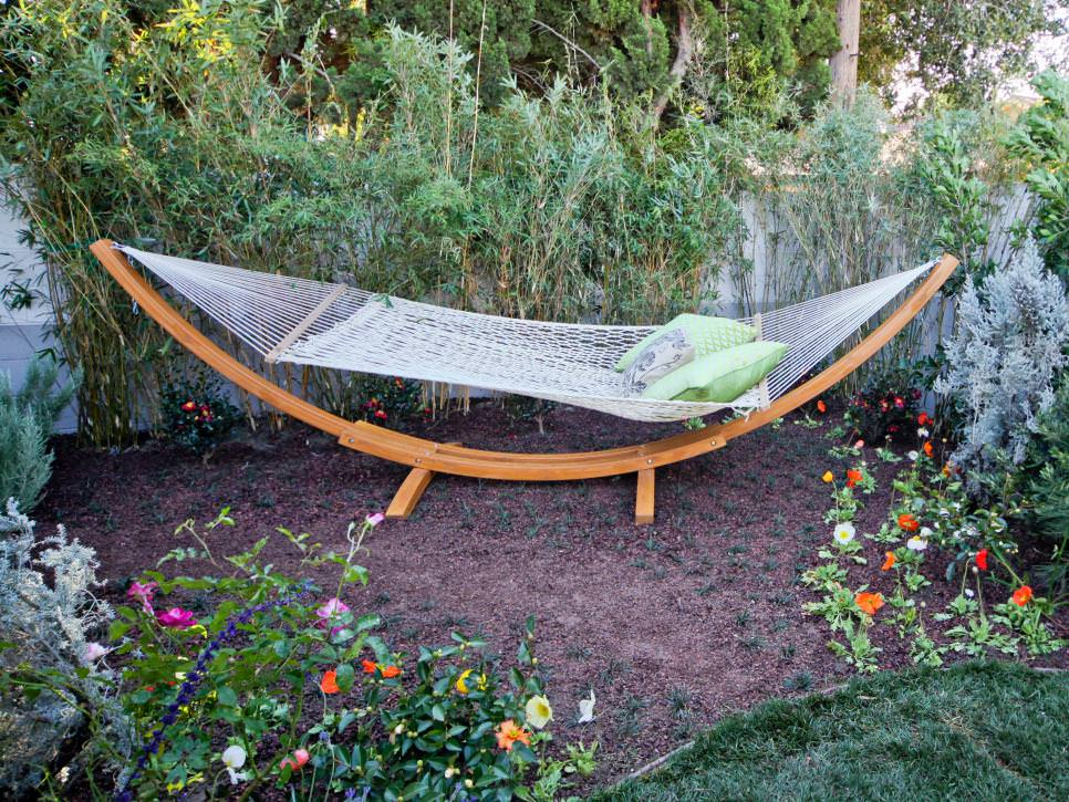 Backyard Hammock in a Garden