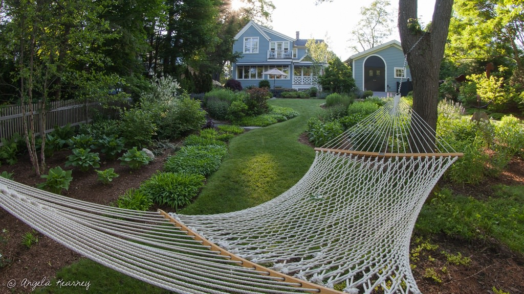 Cottage Landscape and Yard with Hammock