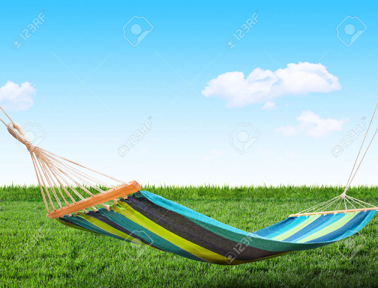 Relaxing on Hammock in Backyard