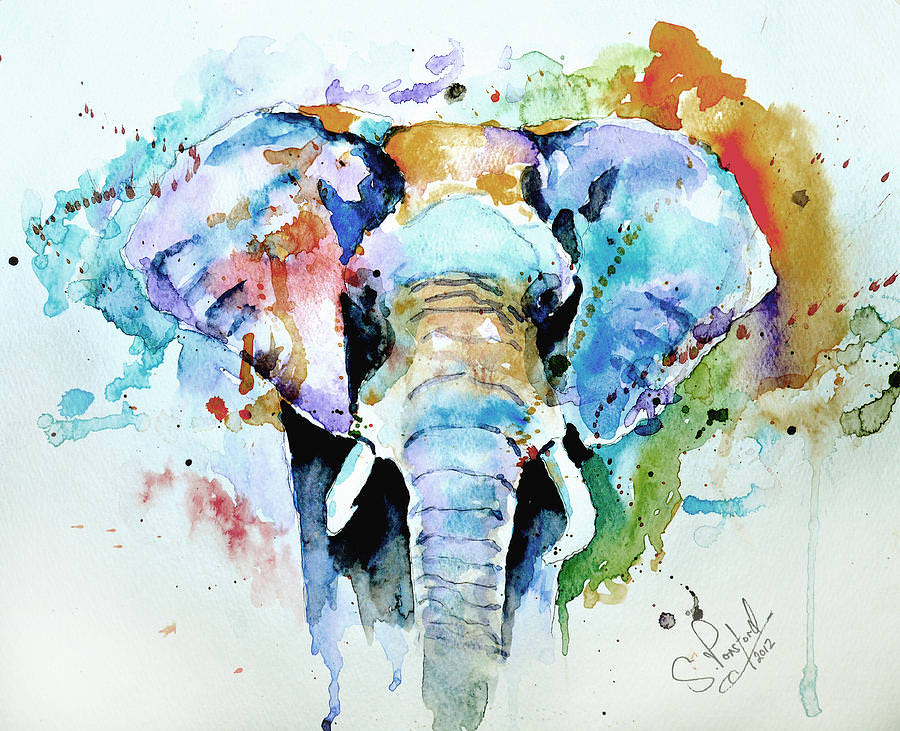amazing elephant watercolor painting