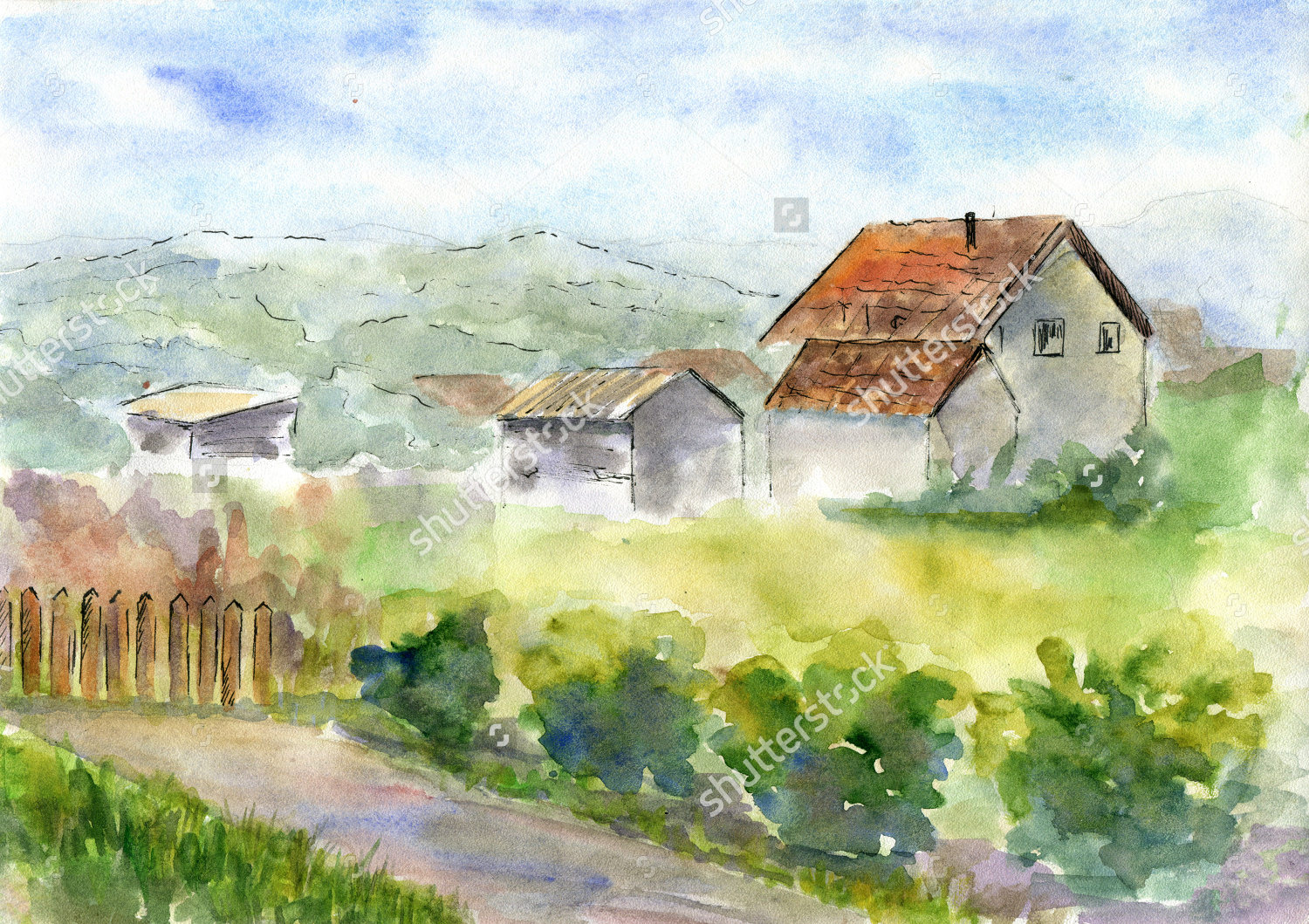 countryside nature painting