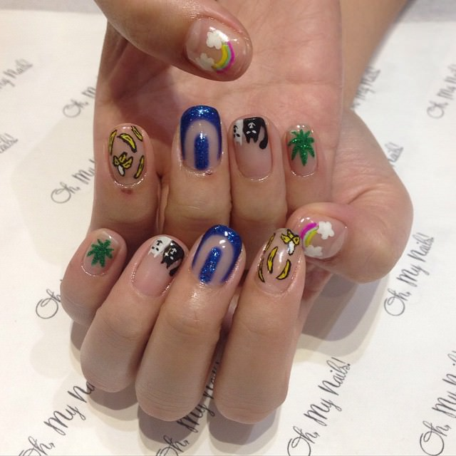 simple classy weed nail design