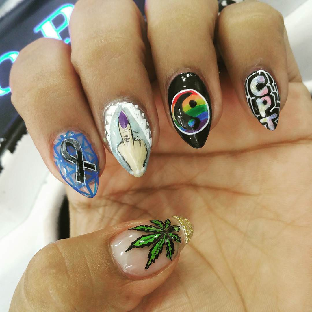 Latest Weed Nail Design