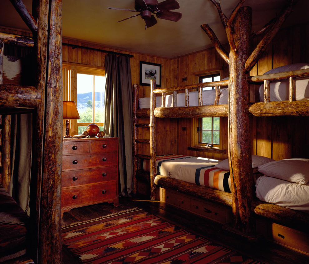 Rustic tree style bedroom design