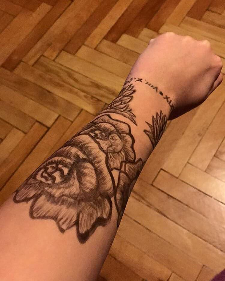 nice forearm sleeve tattoo