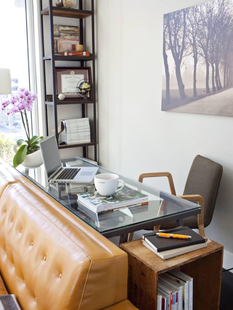 classy attic home office design