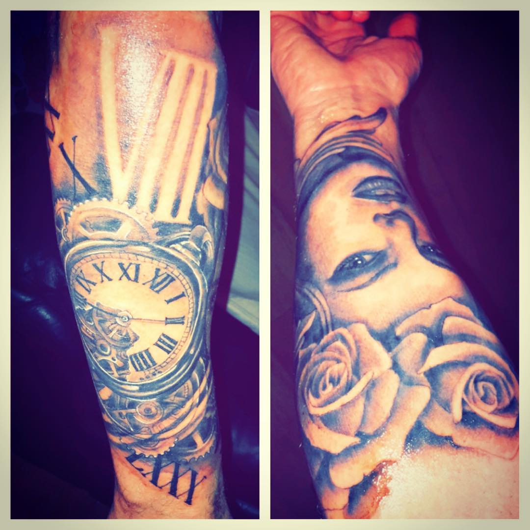 Natural Forearm Sleeve Tattoo