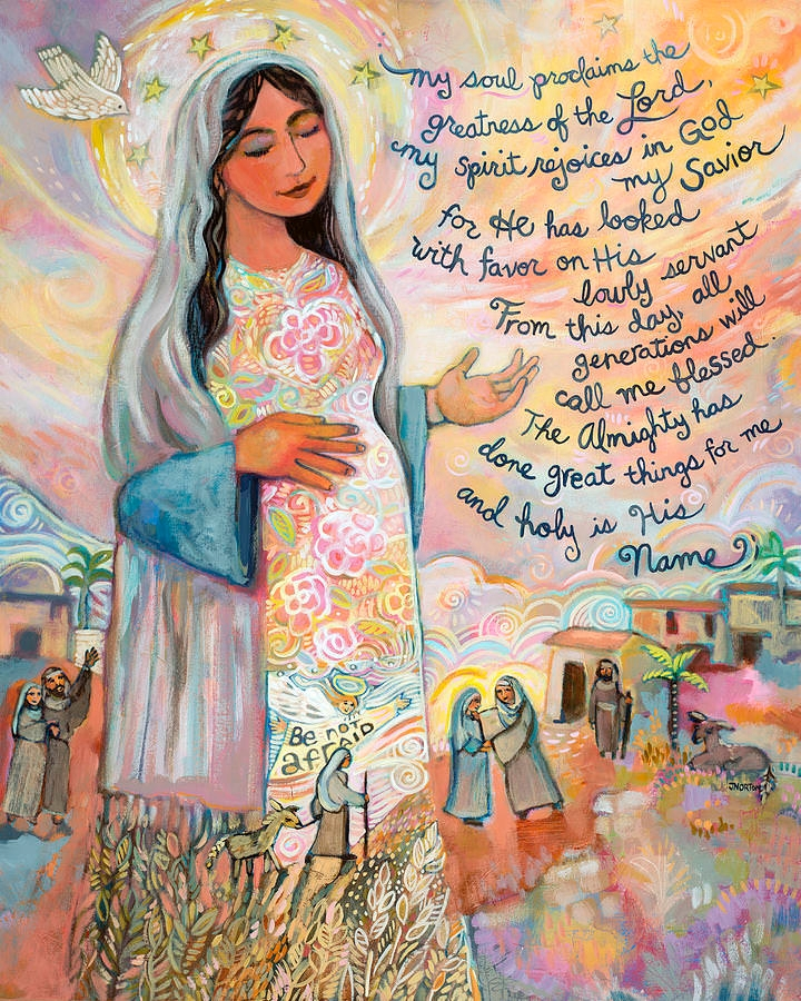 Canticle of Mary Painting