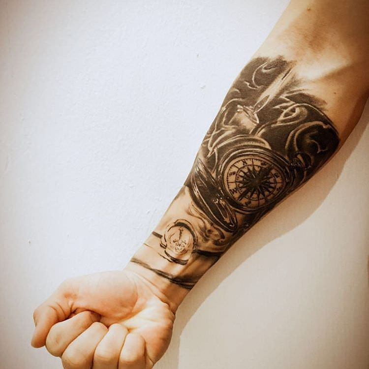 Flashy Forearm Sleeve Tattoo