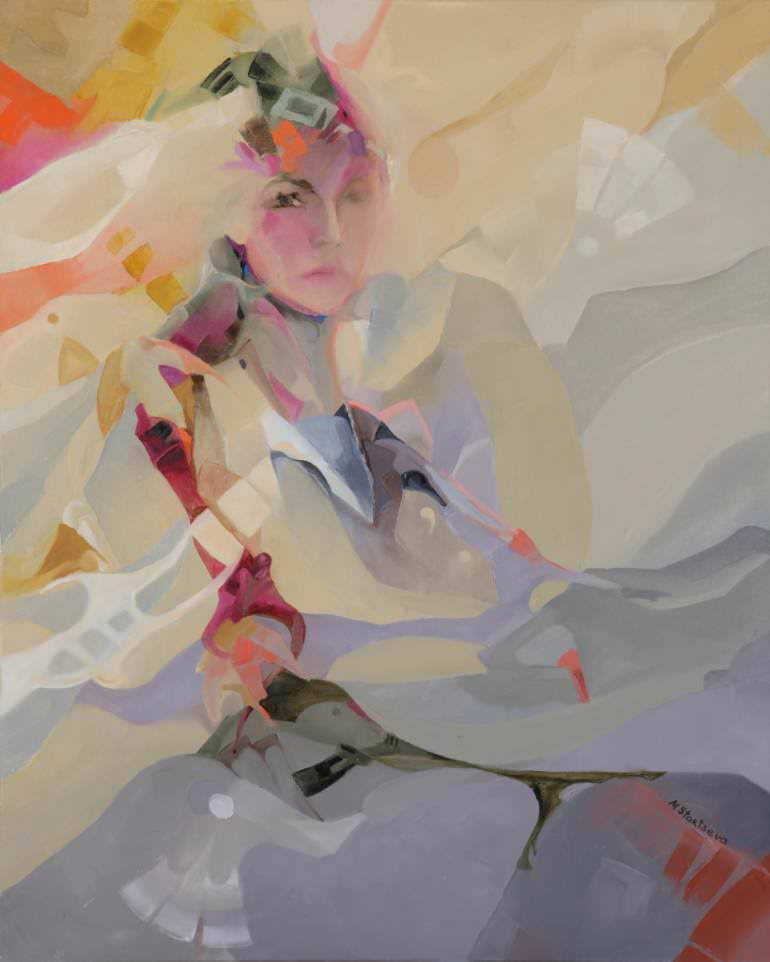 Elegant Modern Lady Painting