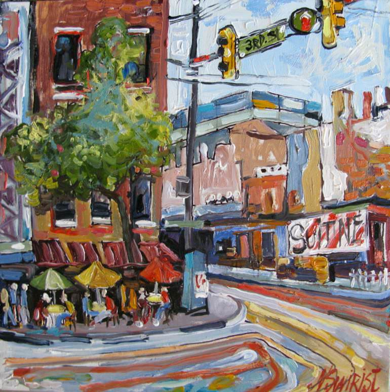 Philadelphia Town Painting