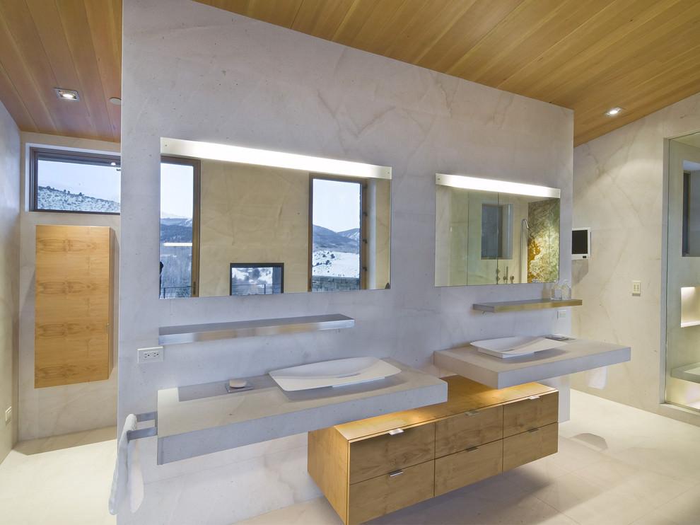 lightening modern electric bathroom