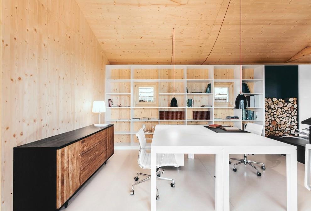 Cozy Scandinavian Home Office Design