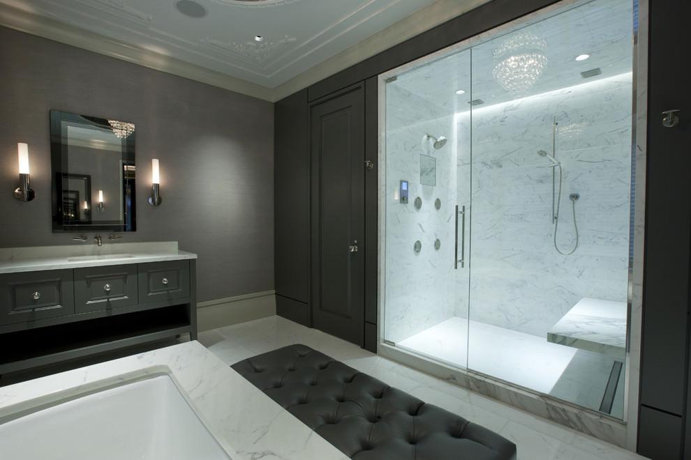 beautiful electric master bathroom