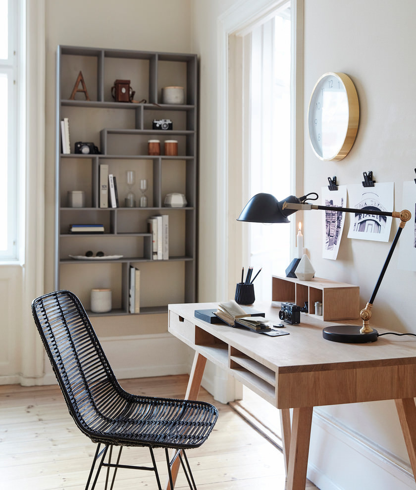 22 scandinavian home office designs decorating ideas for Decoration bureau