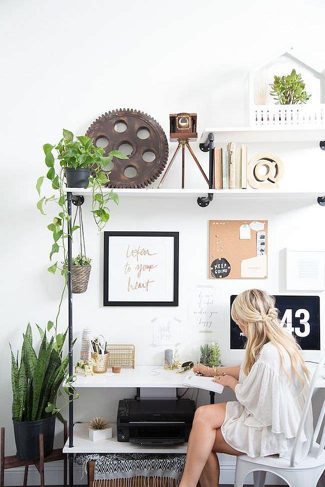 Cool Scandinavian Home Office Design
