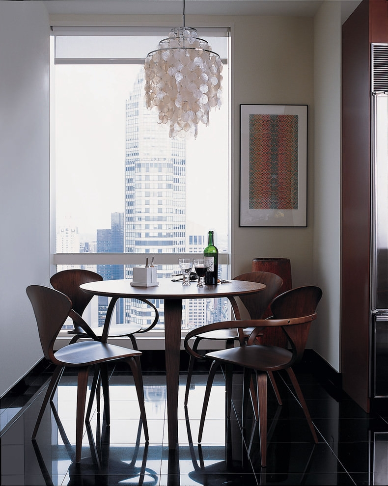 Well plywood furniture in dining room