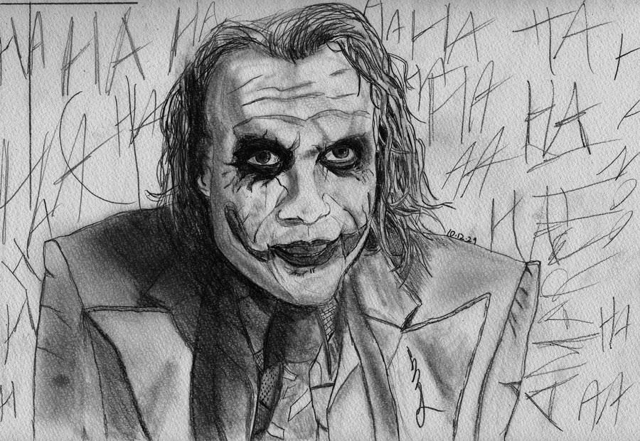 Joker Pencil Drawing