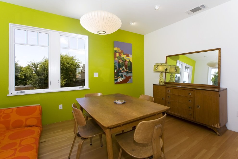 Nice plywood furniture design in dining room