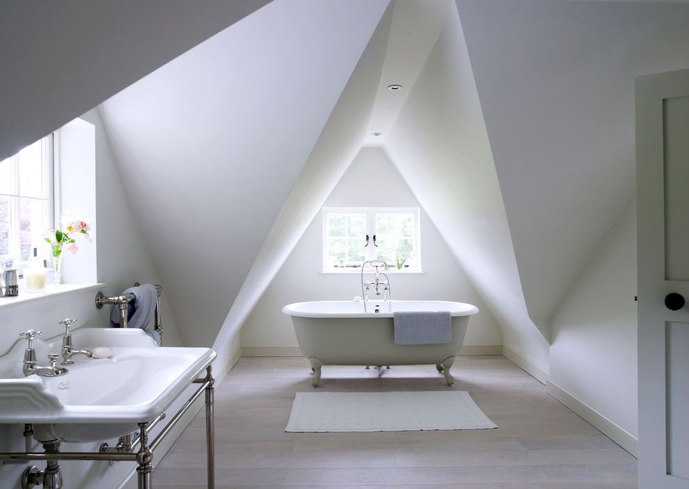 Elegant Attic Bathroom Design