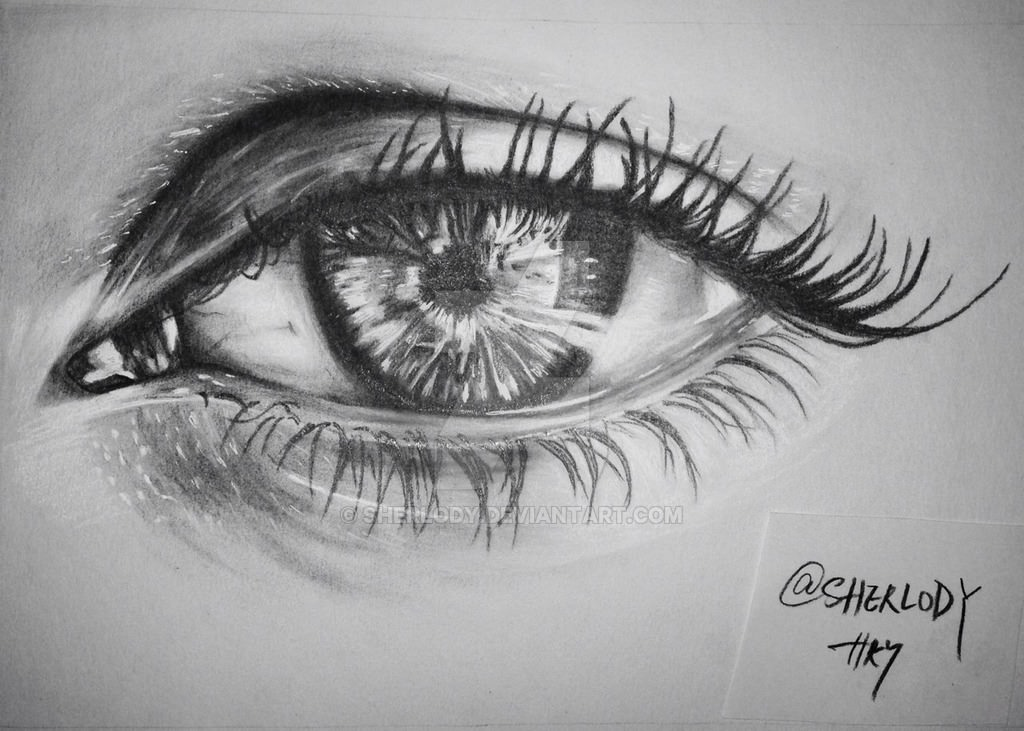 Beautiful eye drawing