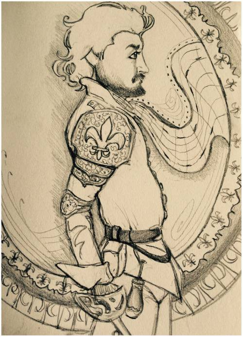 beautiful musketer drawing