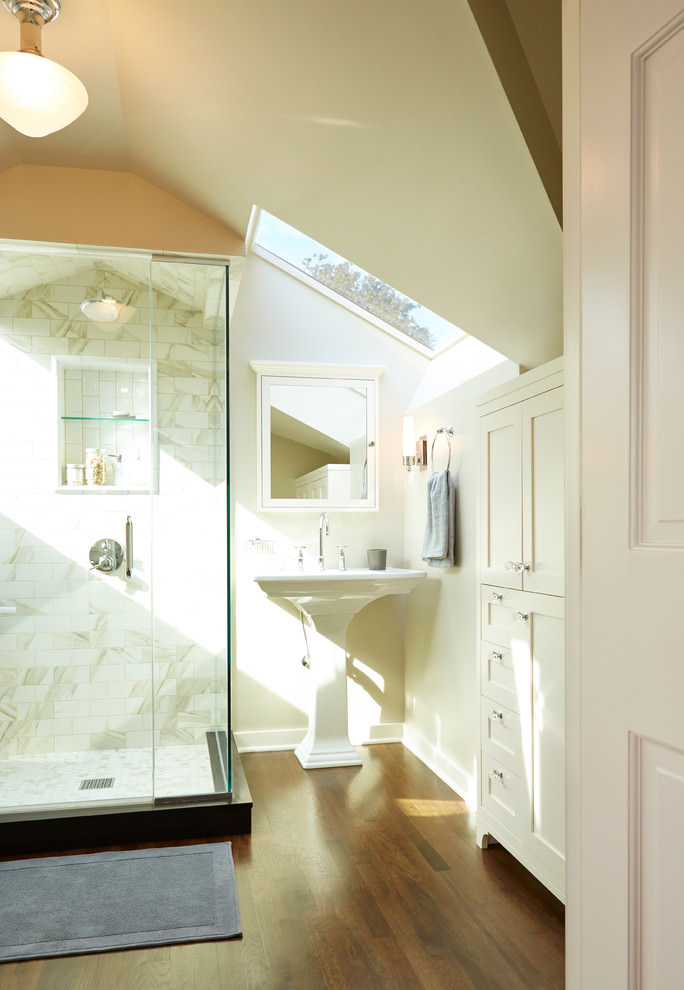 Traditional Attic Bathroom Design