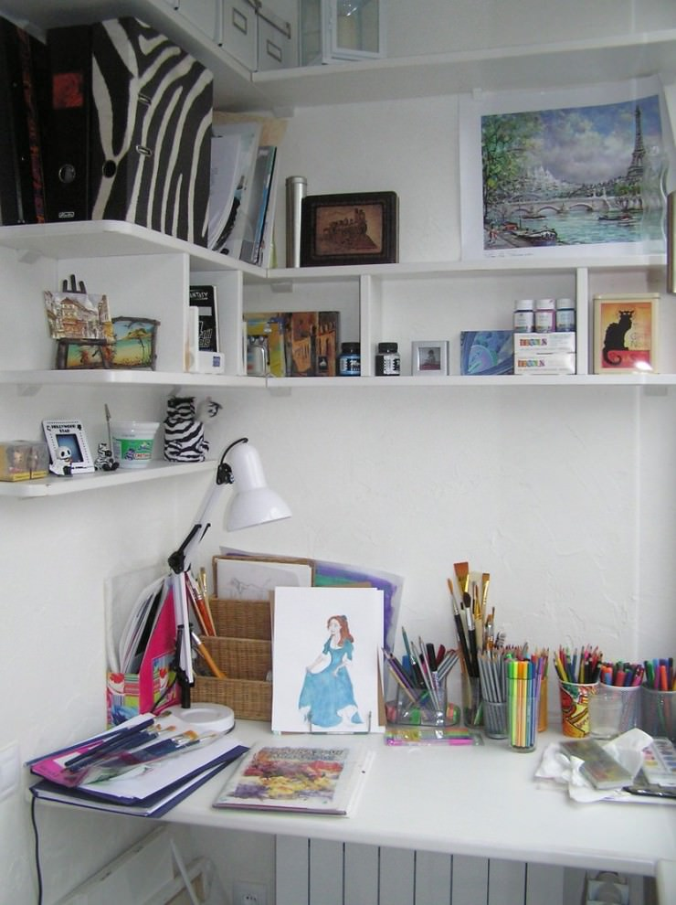 simple work space design for teens