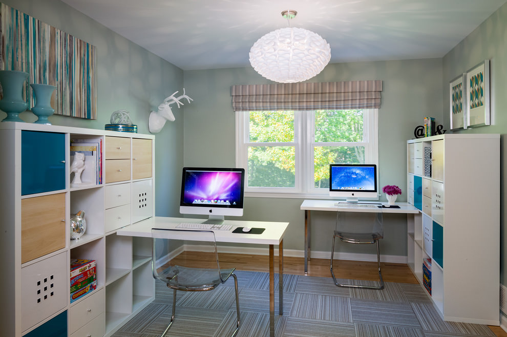 study work space design for kids room