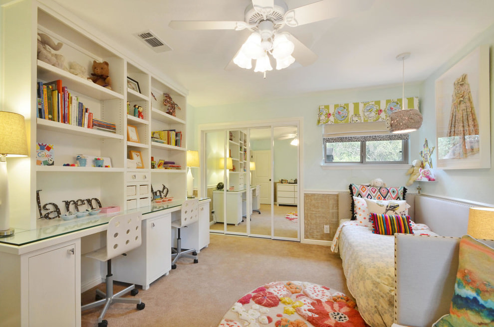 Work space design for contemporary kids room