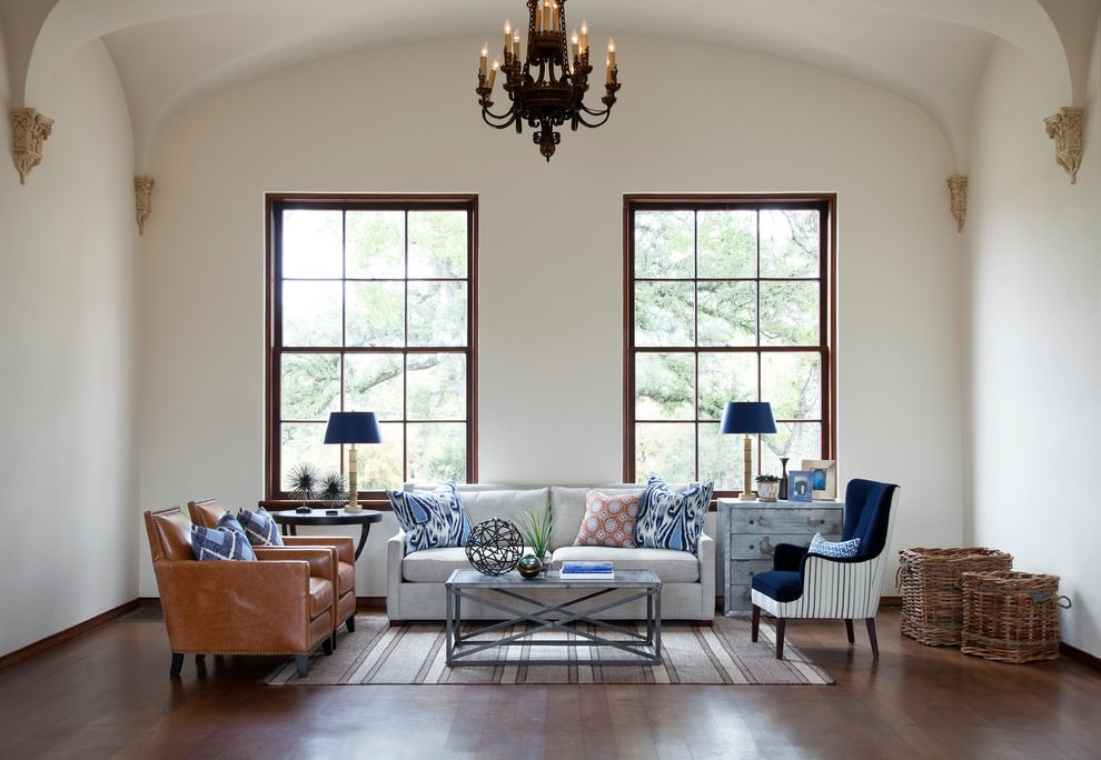 Astonishing blue and brown living room ideas design trends for Front room design ideas
