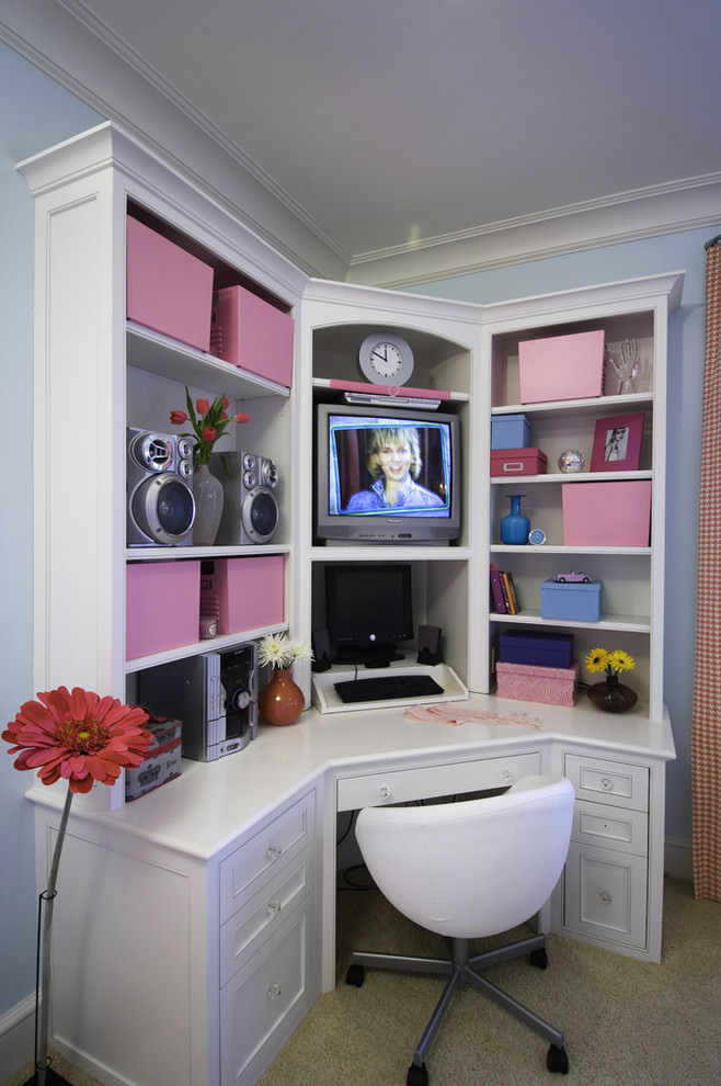 small work space design for teens