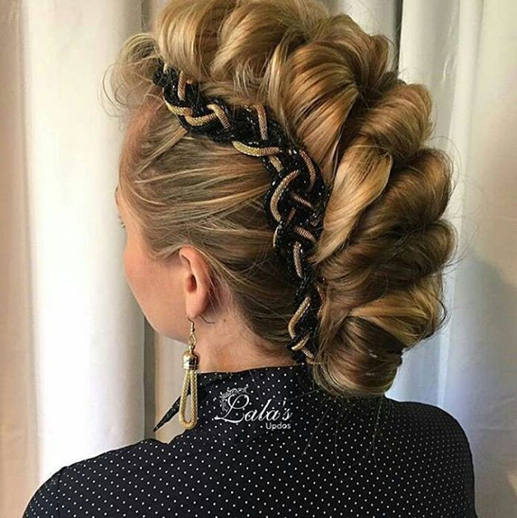 long updo hairstyle