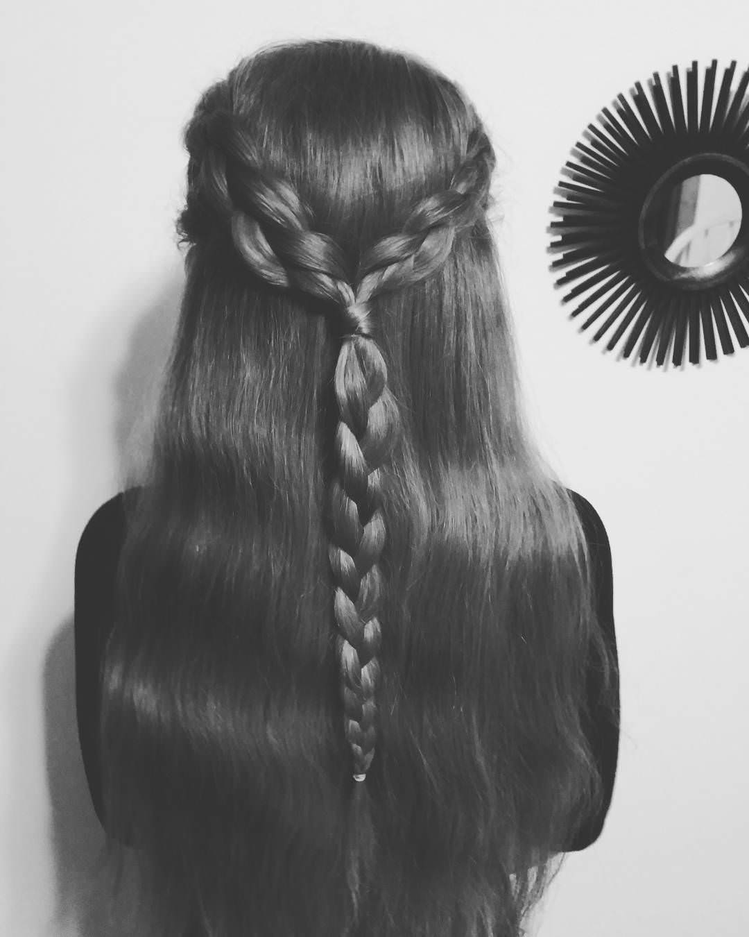 dutch braided long hair