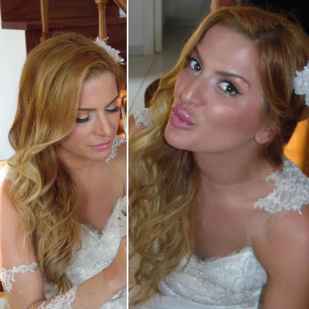 bridal hairstyle of wavy