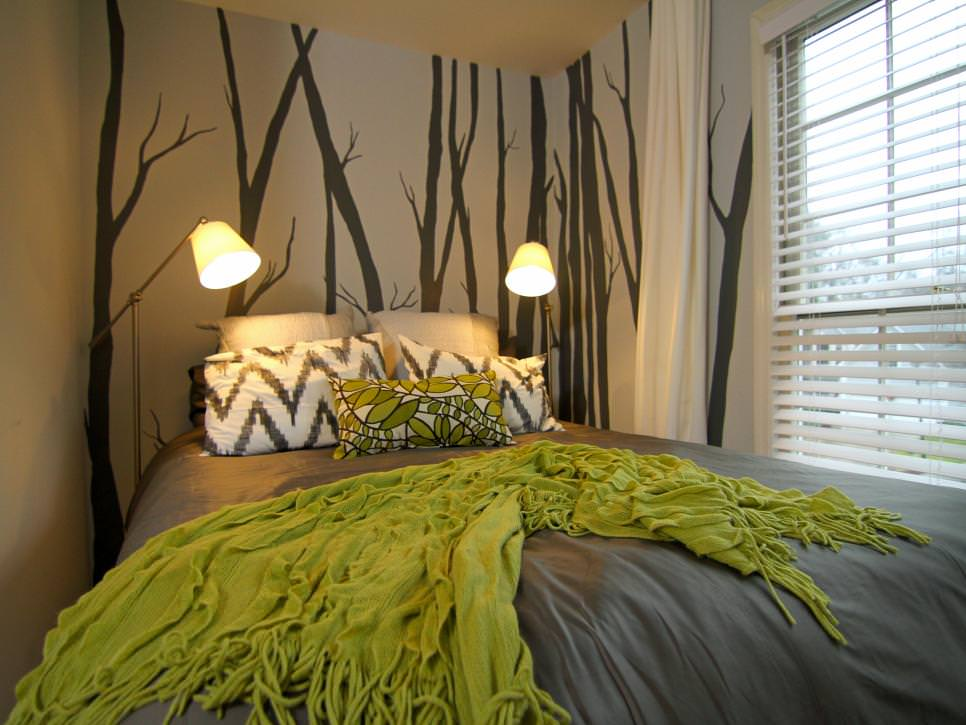 25 accent wall paint designs decor ideas design trends for Designer inspired bedding