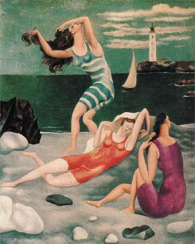 bathers awesome painting