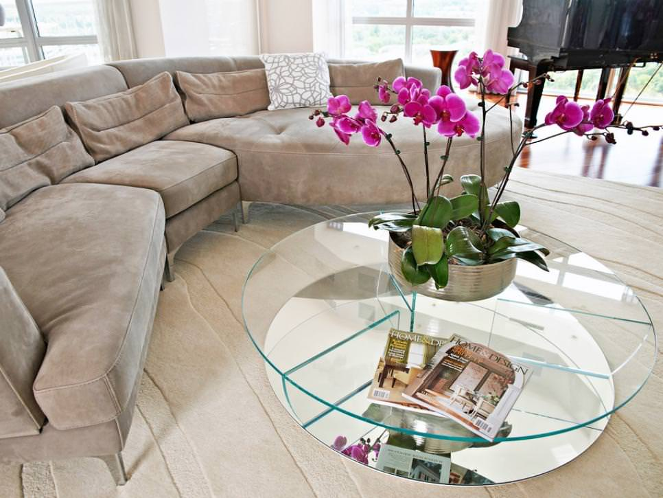 Round Glass Coffee Table Design