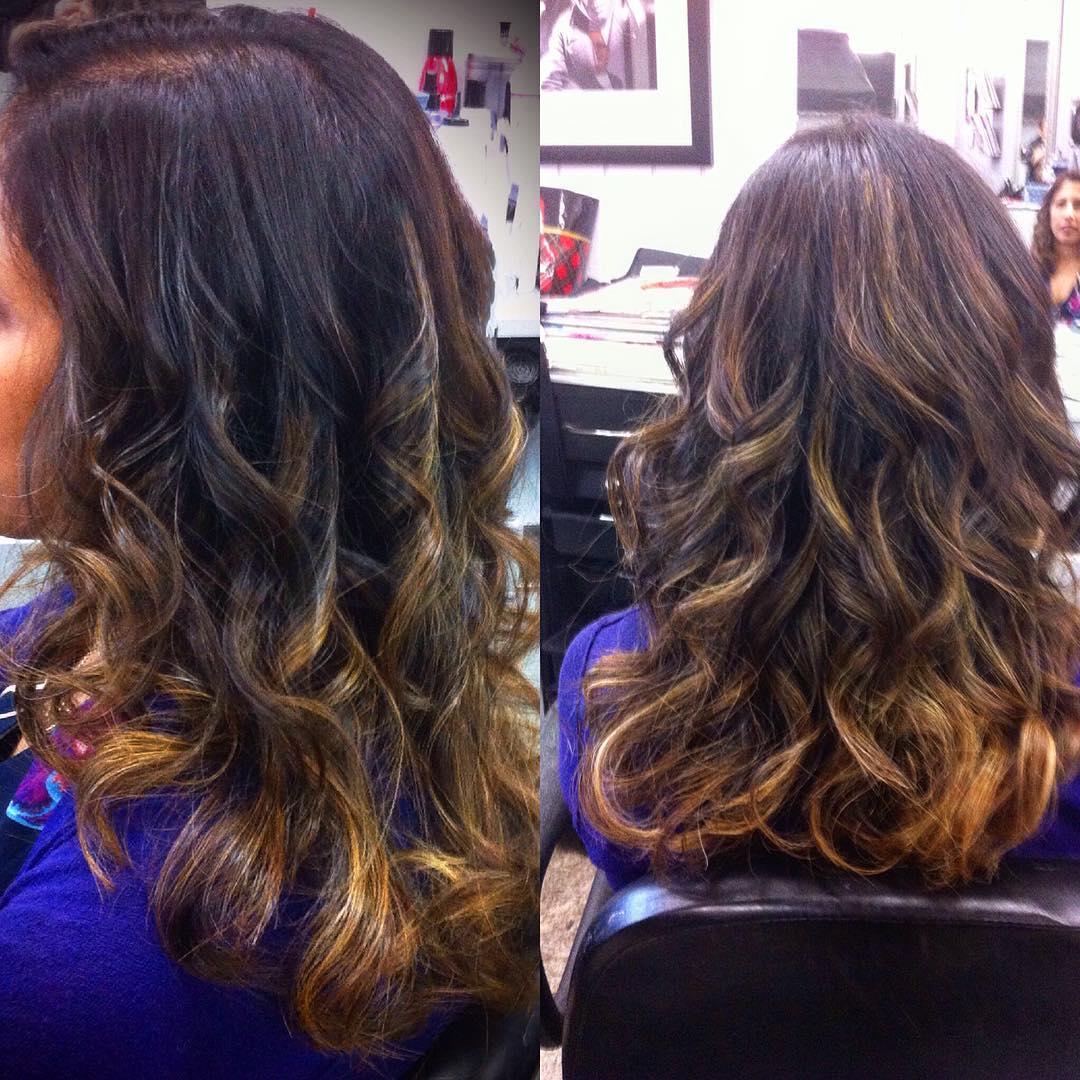 painted wavy hair