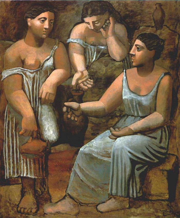 three women at the spring