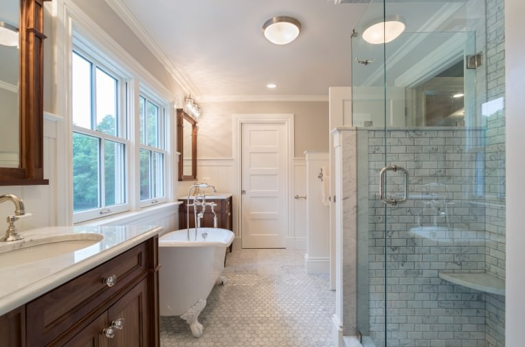 19+ Farmhouse Style Bathroom Designs, Decorating Ideas ... on Modern Farmhouse Shower  id=97485